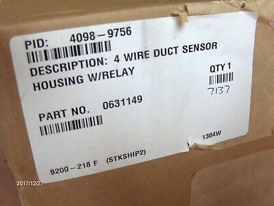 Simplex Duct Detector Housing 4098 - 9756 with Relay