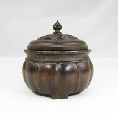 G733: Chinese KARAKI wooden ware incense burner with good taste and work
