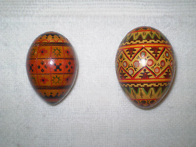 Authentic Wooden Easter Eggs -- Pysanky -- Russian, Ukrainian, Polish