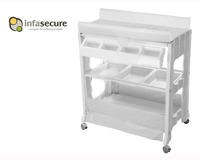 Br New Infa Secure Cosmo Baby Bath And Change Table Centre Changer Station White