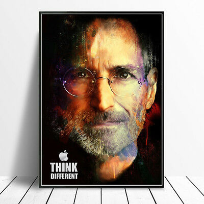 Apple Tribute To Steve Jobs Poster Wall Art Print Unframed A4 Or A3 High Quality