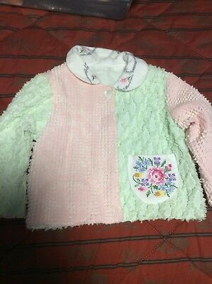 childrens vintage clothing Jacket Chenille 4-6X