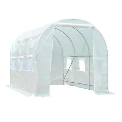 Outsunny 3.5 x 2 x 2 cm Large Galvanized Steel Frame Outdoor Walk In Poly Tunnel
