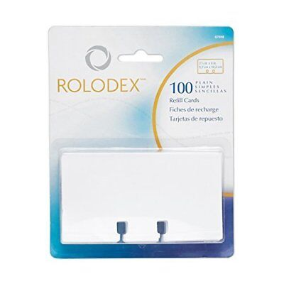 Rolodex Rotary File Card Refills, Unruled, 2-1/4 x 4 Inches, White 67558 4-Pack