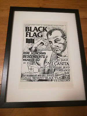 BLACK FLAG Poster-1980- Raymond Pettibon Flyer-Punk-Lp