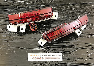 Matchless Crown Racing (MCR) Rear Side Marker Pair - fits Nissan GT-R R35 - Red