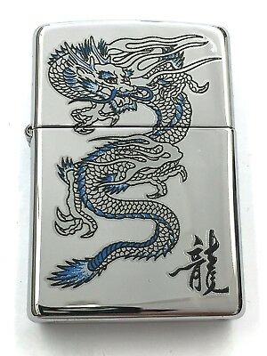 Zippo Blue Dragon High Polished Chrome 250-26855