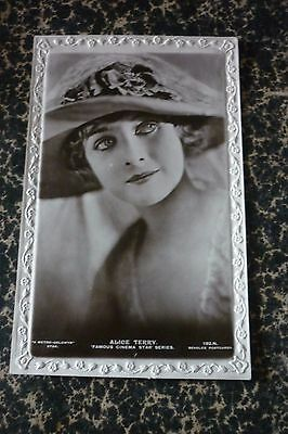 CP 1900' J. Beagles actrice Alice Terry post card silent movie cinéma muet
