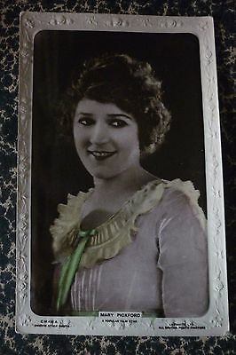 CP 1900' Lilywhite actrice Mary Pickford post card silent movie cinéma muet
