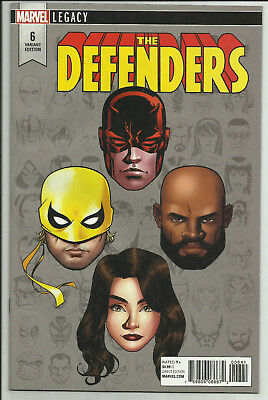 Defenders #6 McKone 1:10 Headshot Variant Daredevil Iron Fist Marvel Legacy 2017