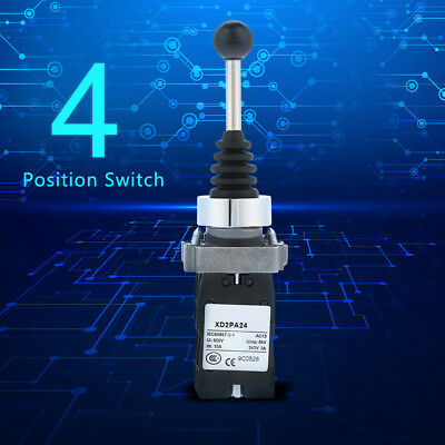 4-Position Joy Stick Control Spring Return Switch Joystick Controller Black