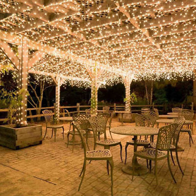 30/40/50/100/200M Warm White Fairy Christmas String Strip Lights Outdoor Party