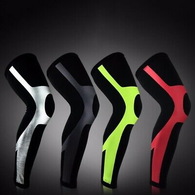 Men Compression Leg Warmers Sleeve Muscle Knee Sock Pad Support Sport Cycling