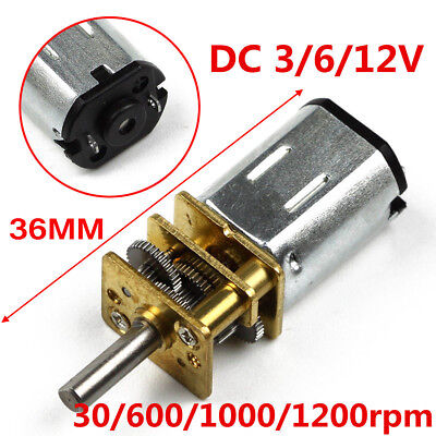 3V 30RPM / 6V 600RPM / 12V 1000RPM / 12V 1200RPM DC Decelerate Gear Motor Shaft
