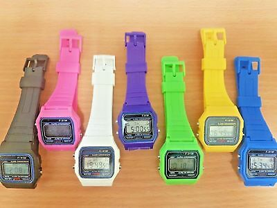 F-91W ALARM CHRONOGRAPH STYLE RETRO CLASSIC DIGITAL STRAP WATCH - SPORT For Kids