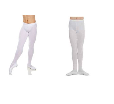White men's  MT11 / MT10 footed dance tights - All sizes