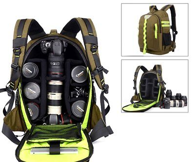Large Dslr SLR Backpack Camera Bag Rucksack Waterproof Anti-shock Travel Bag