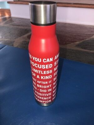 """NEW Kellogg's Special K """"Own It"""" Motivational Stainless Steel Water Bottle"""