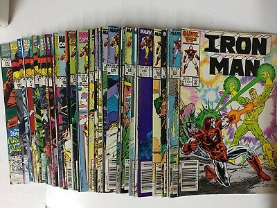 Iron Man comic lot of 63 from 211-332 FN Bagged