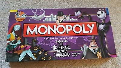 Monopoly Tim Burton's The Nightmare Before Christmas Collectors edition Disney