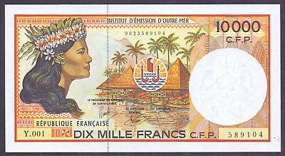 10000 Francs From Pacific - French Colony Unc  B2