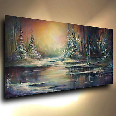 Landscape painting CONTEMPORARY Mix Lang Original ART Modern not oil painting
