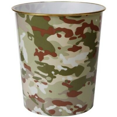 Sale! Kids Army Camouflage Bin Multi Terrain Mtp Camo Bedroom Office Decor Boys