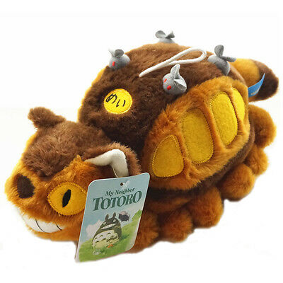 Studio Ghibli My Neighbor Totoro Cat Bus Plush Toy Soft Stuffed Doll Kids Gift