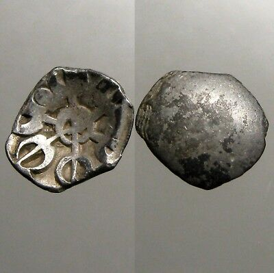 TAXILA SILVER 1/8 SATAMANA___500 BC___Paid to Alexander the Great___LOTUS FLOWER