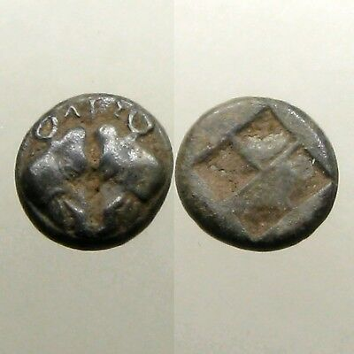 LESBOS (KOINON MINT) SILVER 1/12 STATER___Confronted Boar's Heads