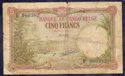 5 Frank From Congo - Belgian Colony 1929 B2