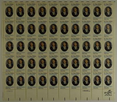 Us Scott 2013 Pane Of 50 Dr Mary Walker Army Surgeon Stamps 20 Cent Face Mnh