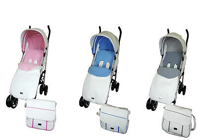 Massimo Leatherette Stroller Pram complete with Changing Bag & Footmuff