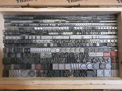Letterpress Lead Type Dingbats - Decorators - Sundries  M12