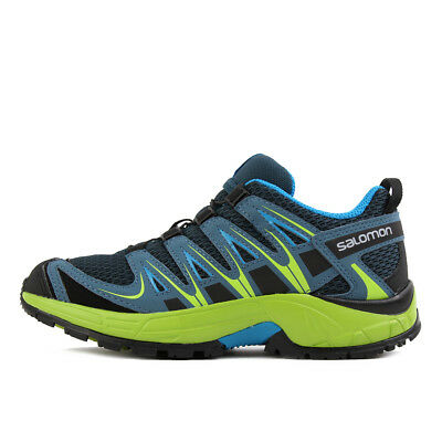 Salomon XA Pro 3D J Reflecting Pond Lime Green Hawaiian Surf Kinder Schuhe Blau