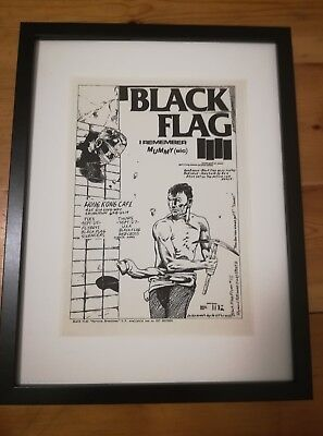 BLACK FLAG Poster-1980- Raymond Pettibon Flyer-Punk-Lp-Art- 80s