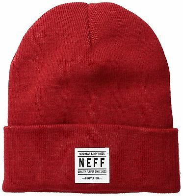 f4269319e0e Neff Mens Lawrence Beanie Hat Maroon Size One Size New