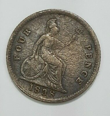 1838 Silver 4 Pence