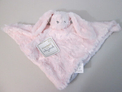 Blankets & Beyond Pink Bunny Rabbit Security Blanket Nunu Lovey Fuzzy Easter