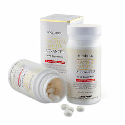 Authentic Mosbeau Placenta White Advanced Whitening Tablets-USA Authorized Dist*