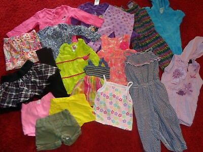 HUGE LOT GIRLS SUMMER CLOTHES CALVIN KLEIN OUTFITS WARDROBE SIZE 24 Months 2T