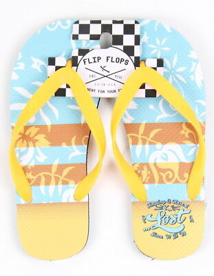 Lost Mens Surf Knot FlipFlops Sandals Yellow Size Medium (8.5-9.5) New