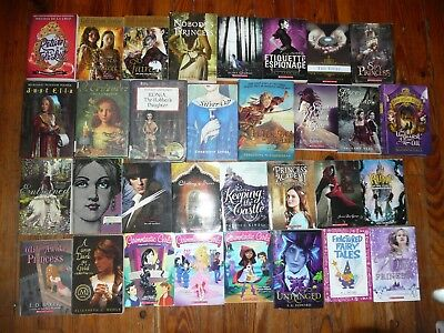 Lot of 36 PRINCESS CHAPTER BOOKS Fractured FAIRY TALES Magic MEDIEVAL Historical