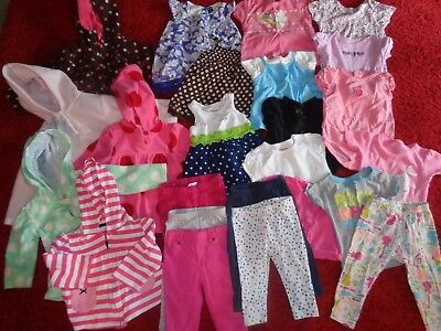 Huge Lot Baby Girls Clothes Old Navy Carters Outfits Wardrobe Size 12/18 Months