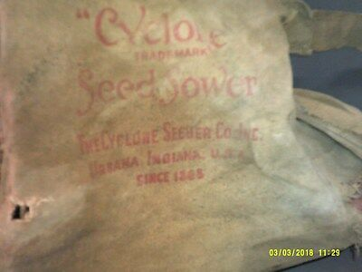 Primative Cyclone Seed Sower Urbana Indiana Very Weathered And Worn Decoration