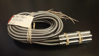 """(Lot of 8) OHS Cartridge Heater 5/8"""" x 5"""", 700W 120V, armored, J5Z51A48"""