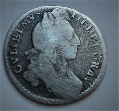 1697  William Iii Silver Sixpence ( Nice Scarce Coin)