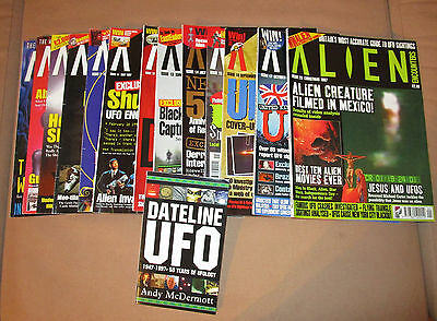 Alien Encounters magazines, 13 issues, + book Dateline UFO
