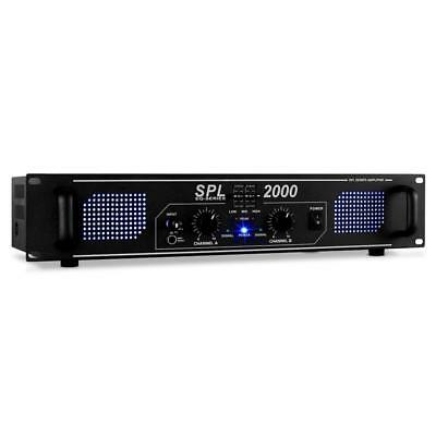 Skytec Spl 2000 Watt Amp Hifi Pa Dj Disco Stage Speaker Amplifier Sound System