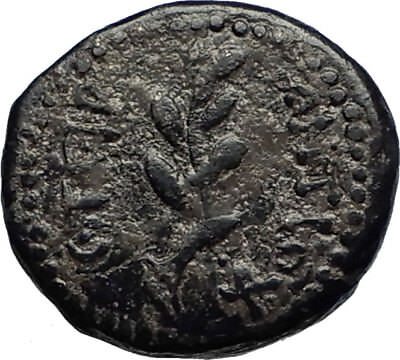 ANTIOCH Seleukis Roman Emperor NERO Time 66AD Ancient Greek Coin w APOLLO i67472